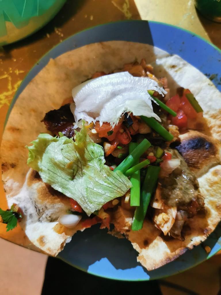 home made taco