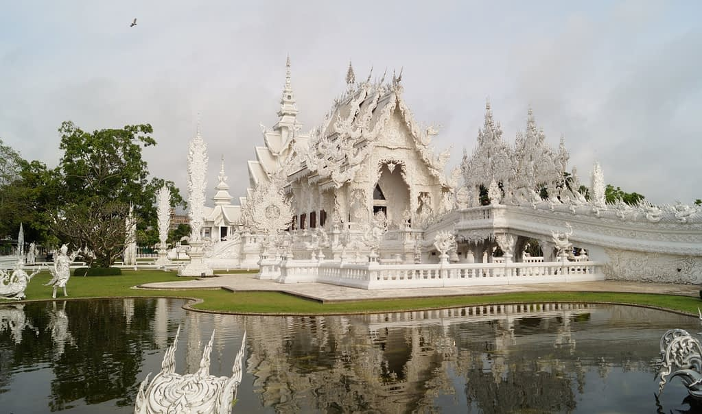 Wat Rong Khun (Visiting the White Temple in Chiang Rai) 1 Follow our adventures!